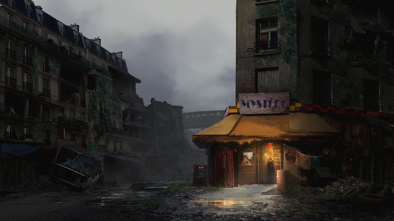 Nicolas Tham Post Apocalyptic Paris Environment Concept