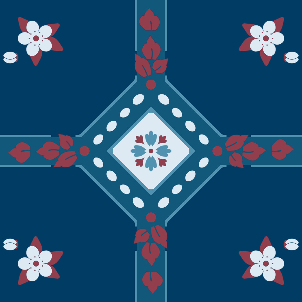 Alex schwartz flower tile pattern