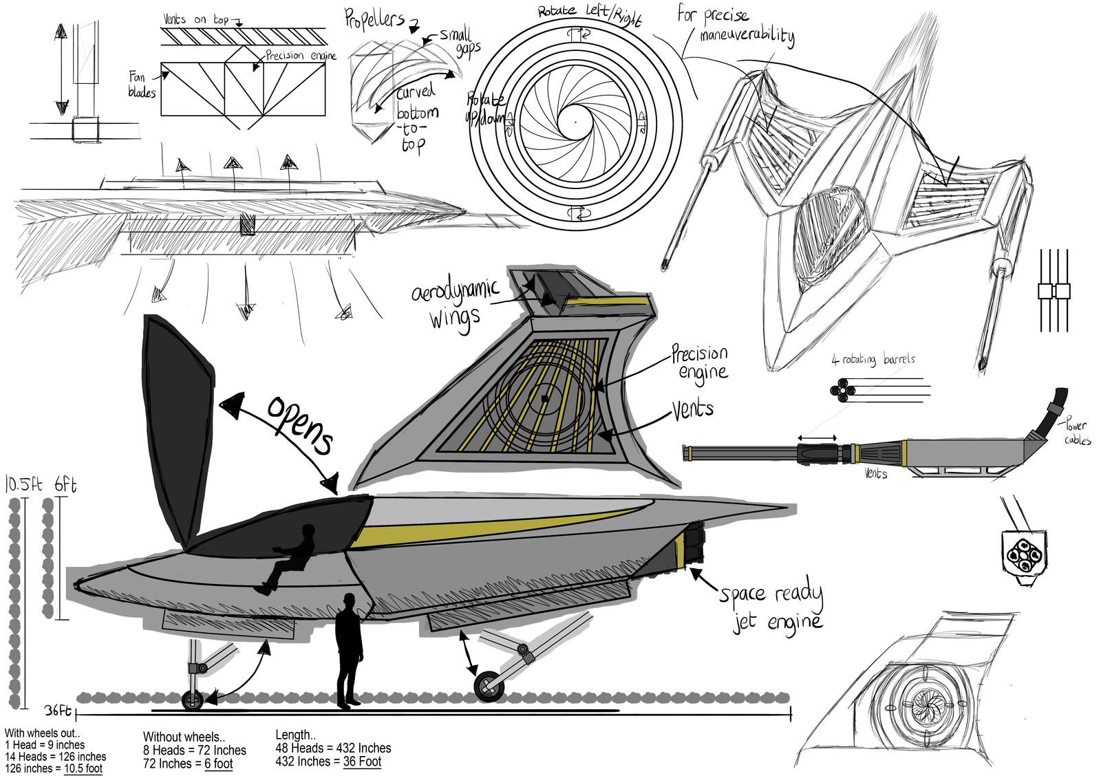 Fighter Jet Sketch