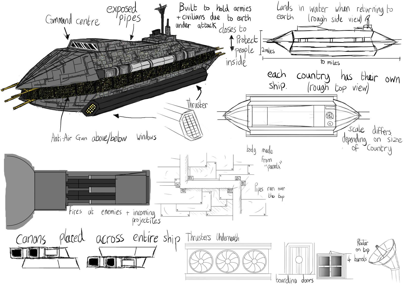 Colony Ship Sketch