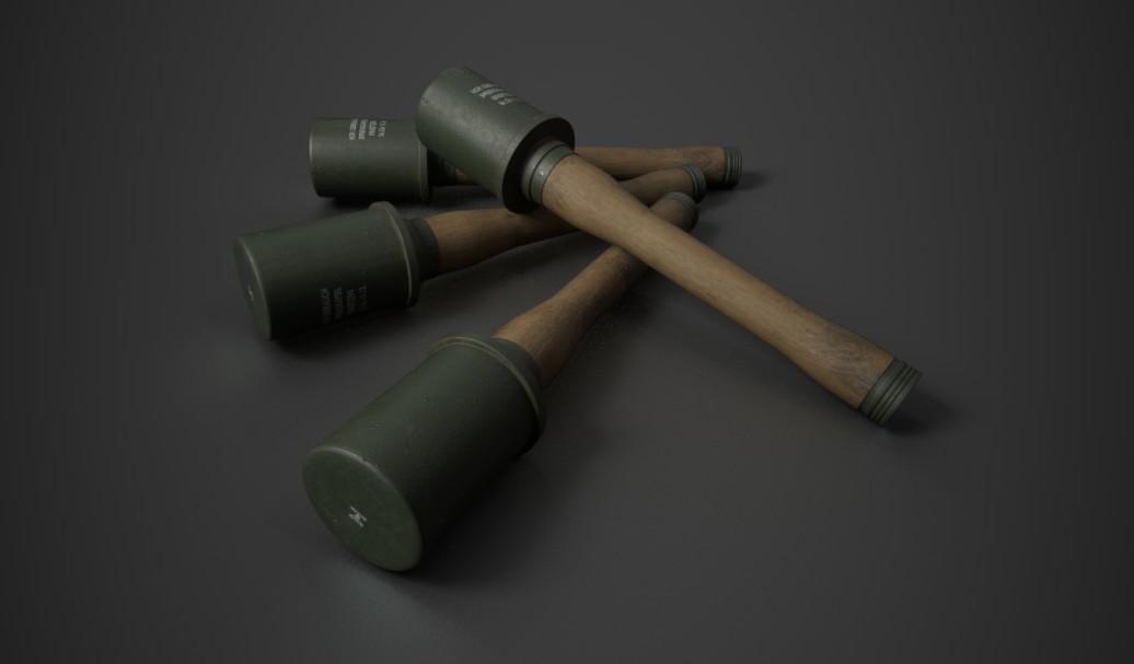 """German Wehrmacht WWII  Stielhandgranate """"Stick Hand Grenade"""""""