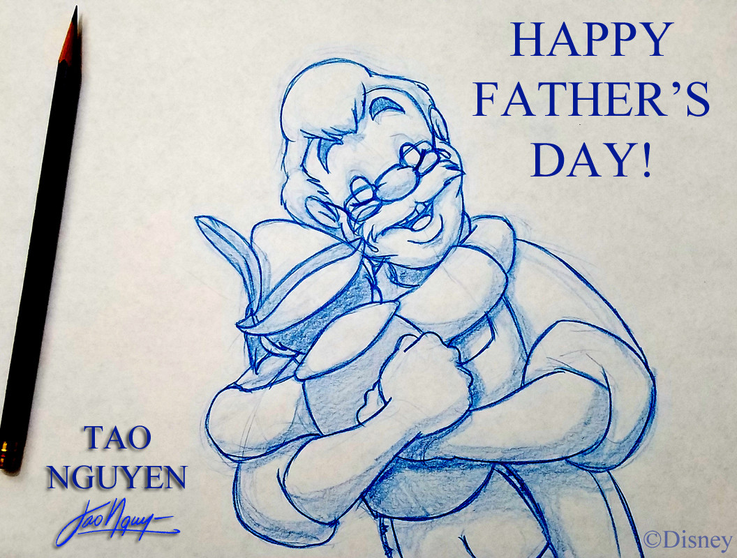 Tao nguyens pinocchio fathers day sketch drawing