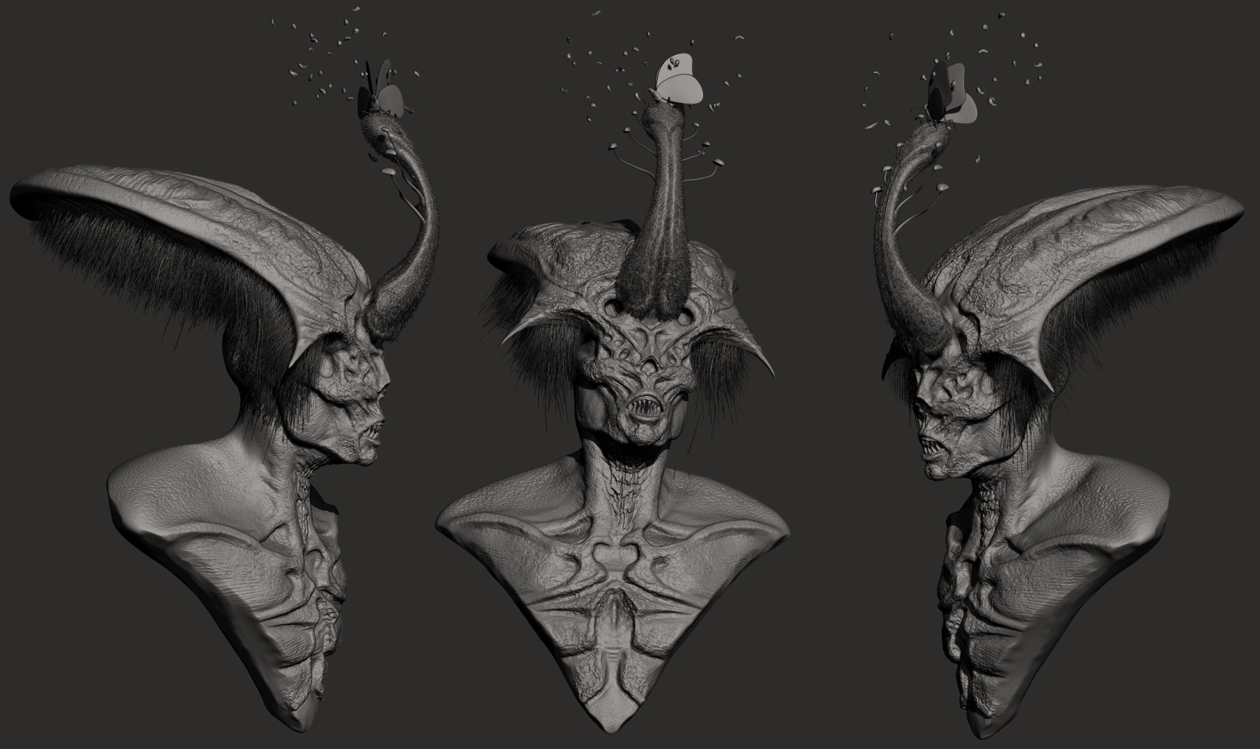 Final sculpt from the ZBrush Central Sculpt Off.