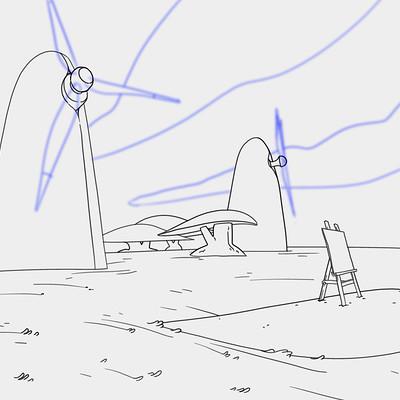 Samuel herb painting windmills