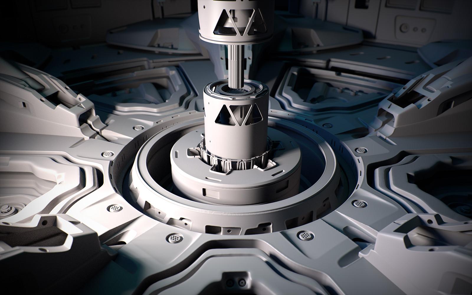 Zbrush 4R8 Beta Sci Fi Nuclear Facility Grey