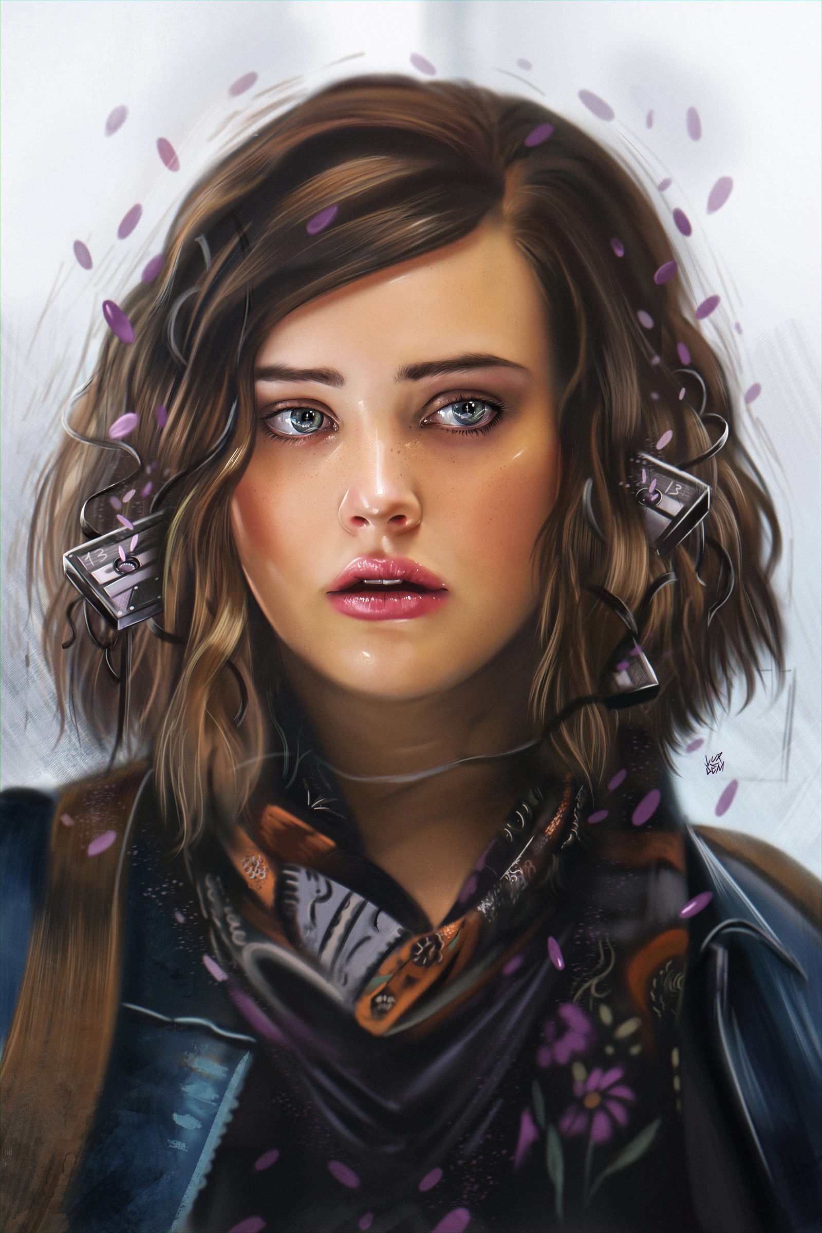 Yasar vurdem 13 reasons why netflix tv series illustration by vurdem dbd8qyl