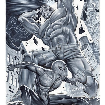 Marco santucci hulk vs spider man