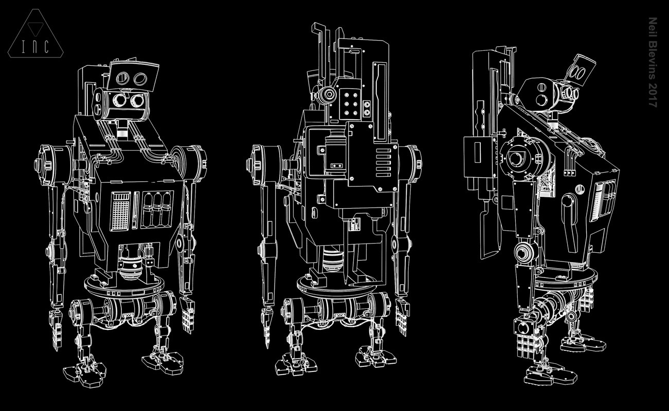 Neil blevins inc the robot 14 line sketch b