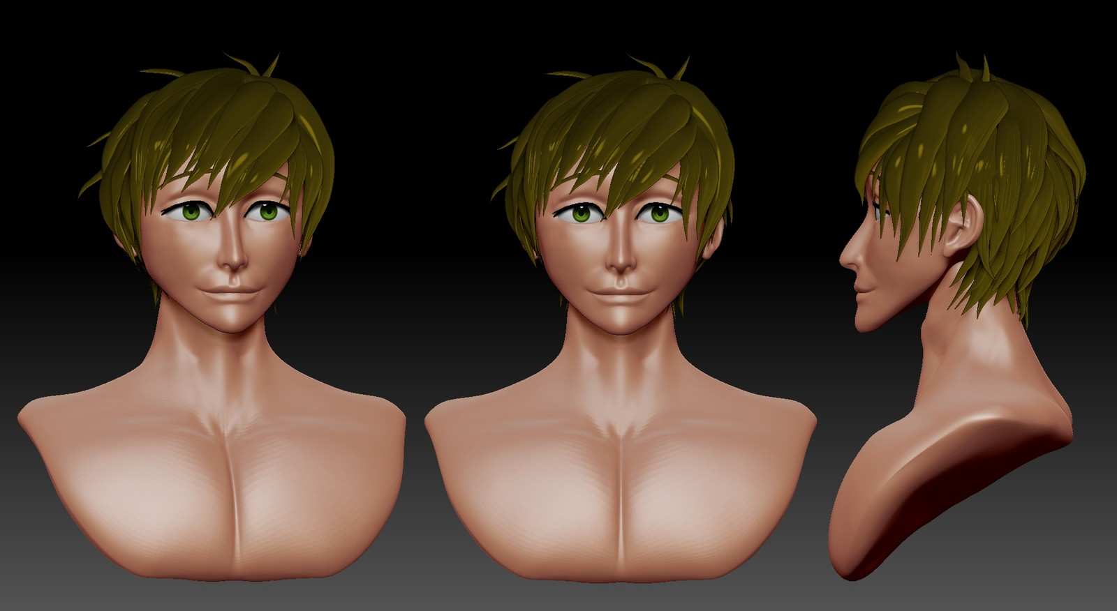 Speed sculpt Makoto from Free! Iwatobi Swim Club