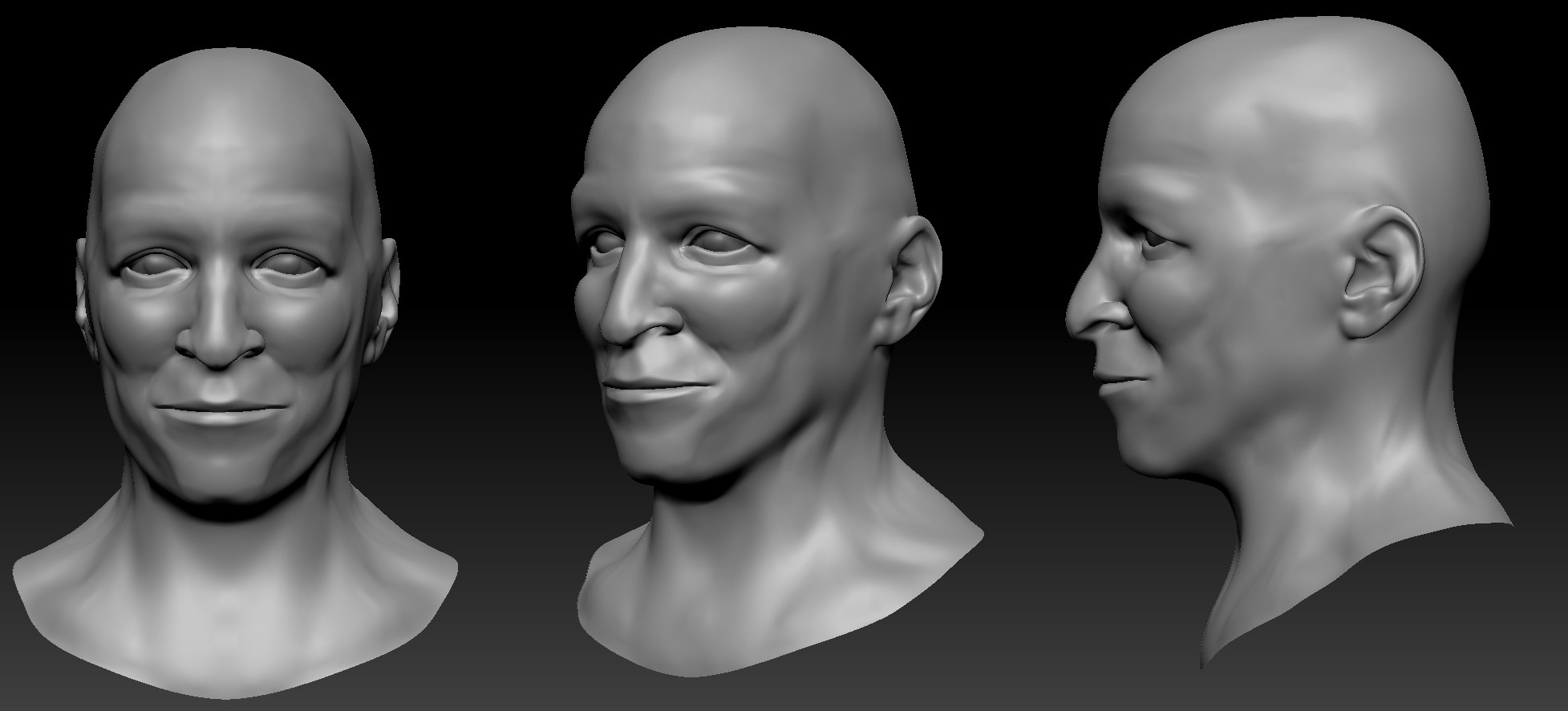 Game Character 01 - Head Sculpt