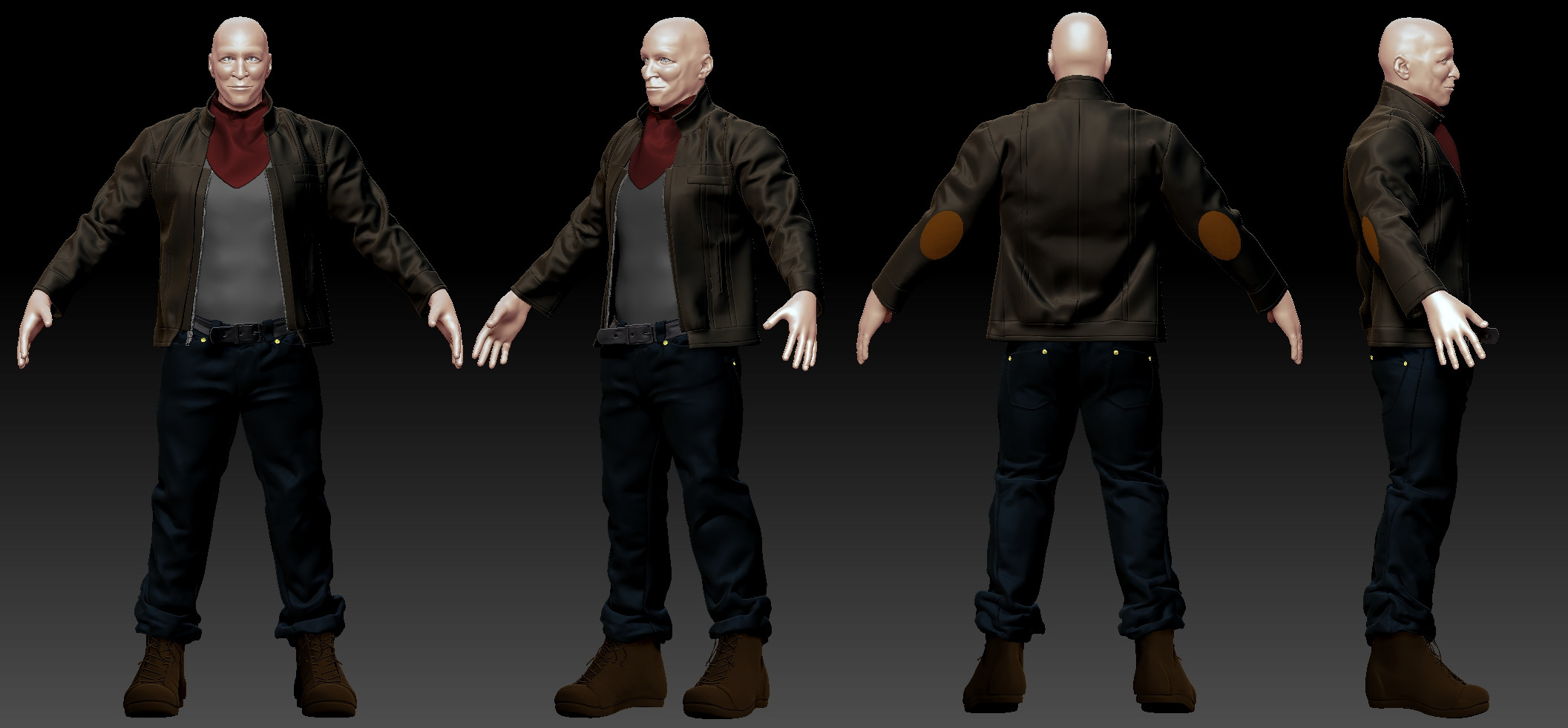 Game Character 01 - Body with Clothing 02