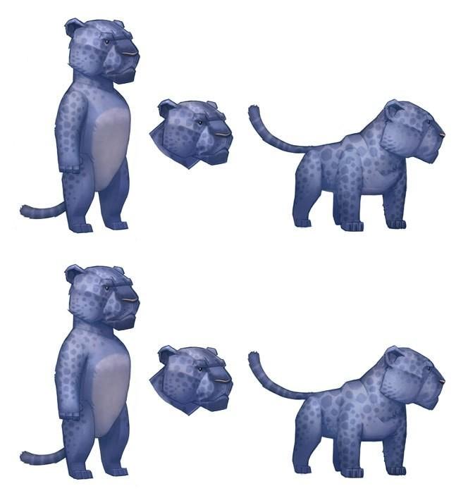 T d chiu t d chiu 3dscrib leopard sketch