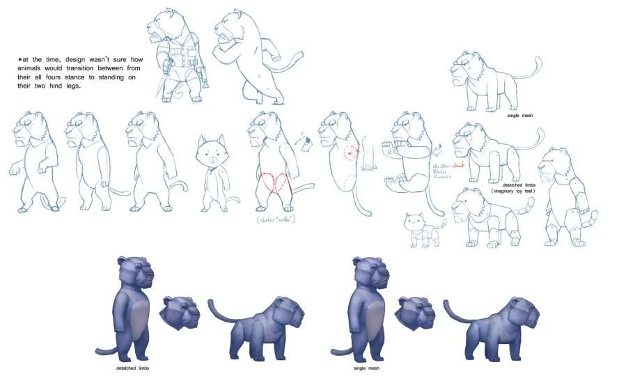 T d chiu t d chiu 3dscrib lionsketches stand