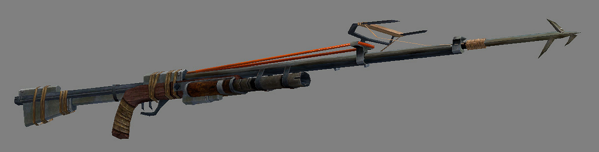 I modeled and textured the weapon based on a design by M.C. Barrett.