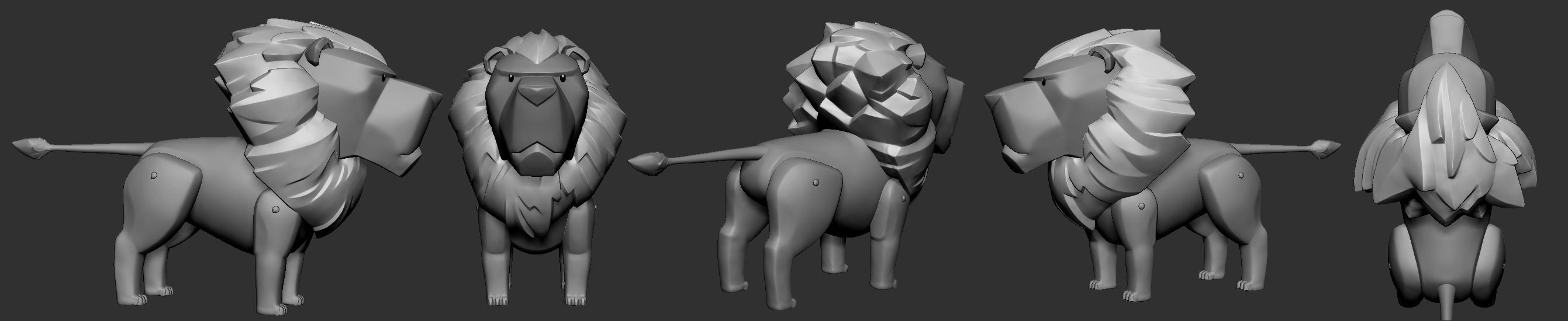 I modeled this creature based on my design.