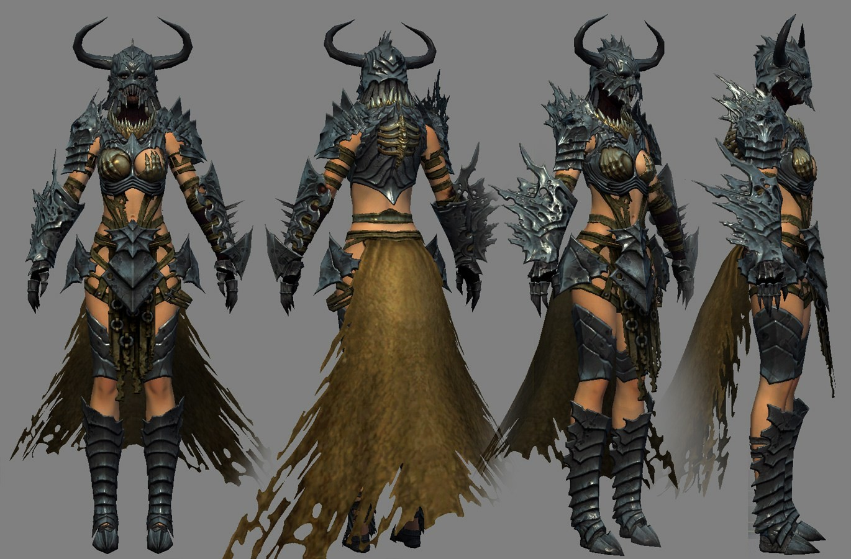 I modeled and textured the armorset based on a design by Kekai Kotaki.
