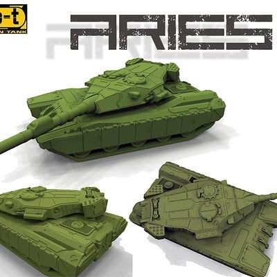German impache cover aries tank