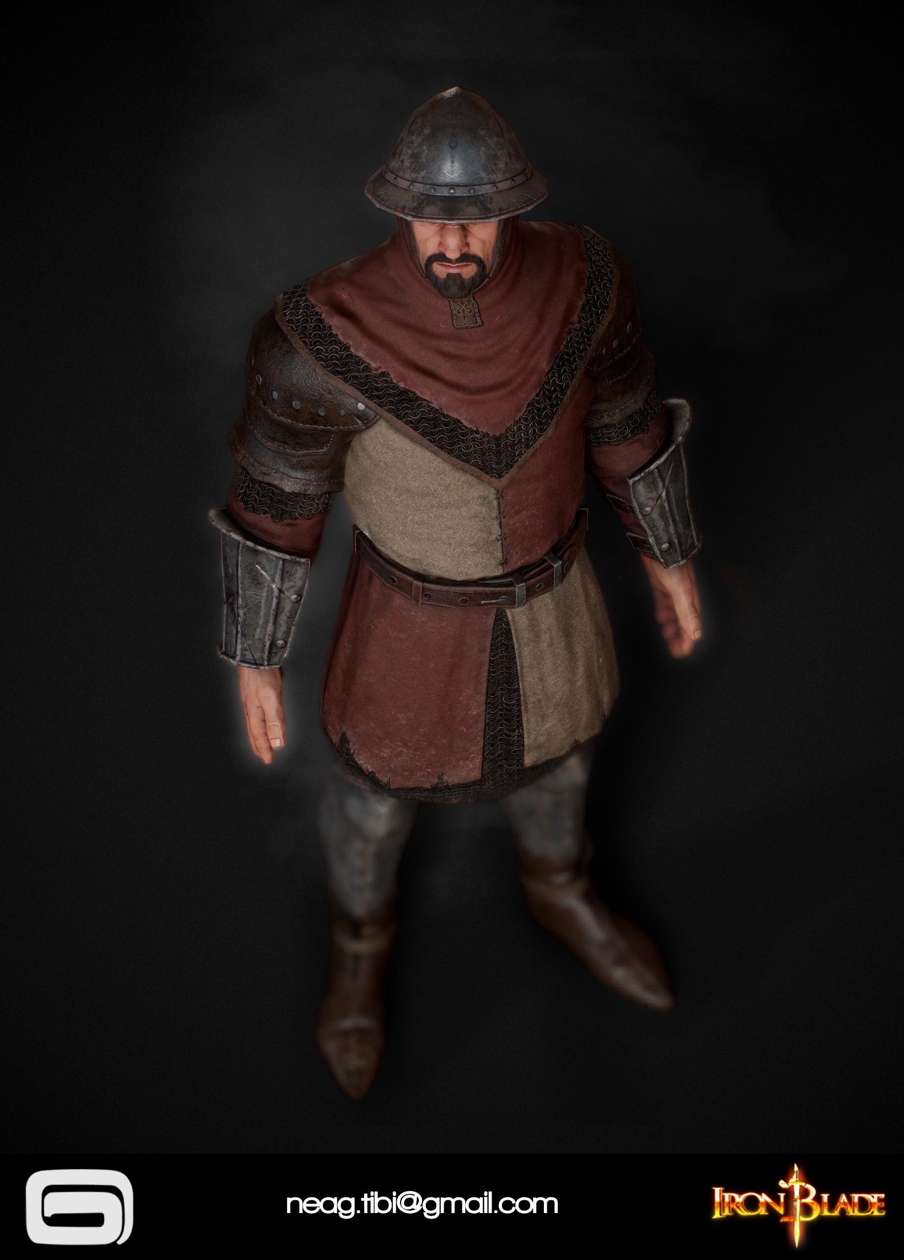 Tibi neag tibi neag iron blade garrison soldier c low poly 06