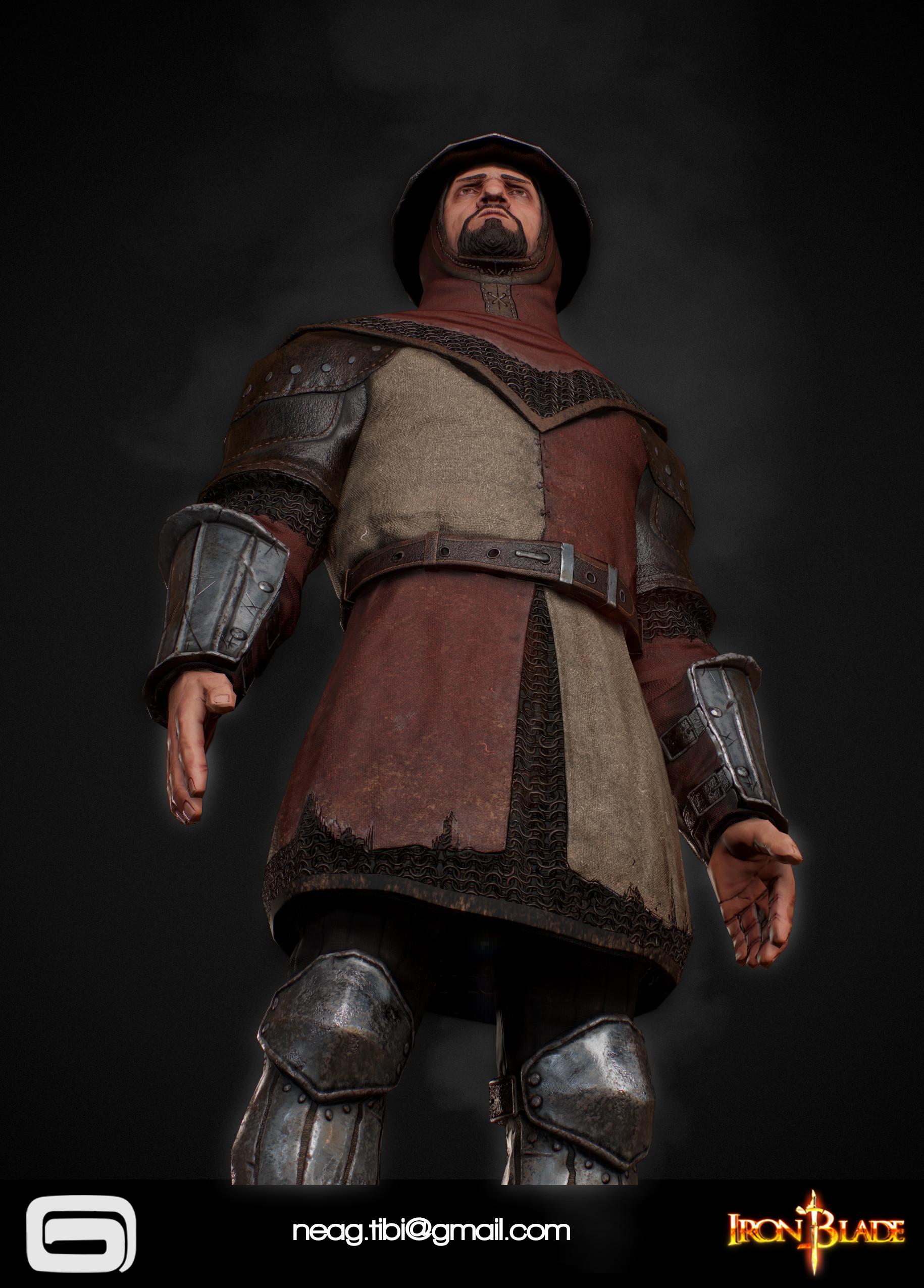Tibi neag tibi neag iron blade garrison soldier c low poly 07