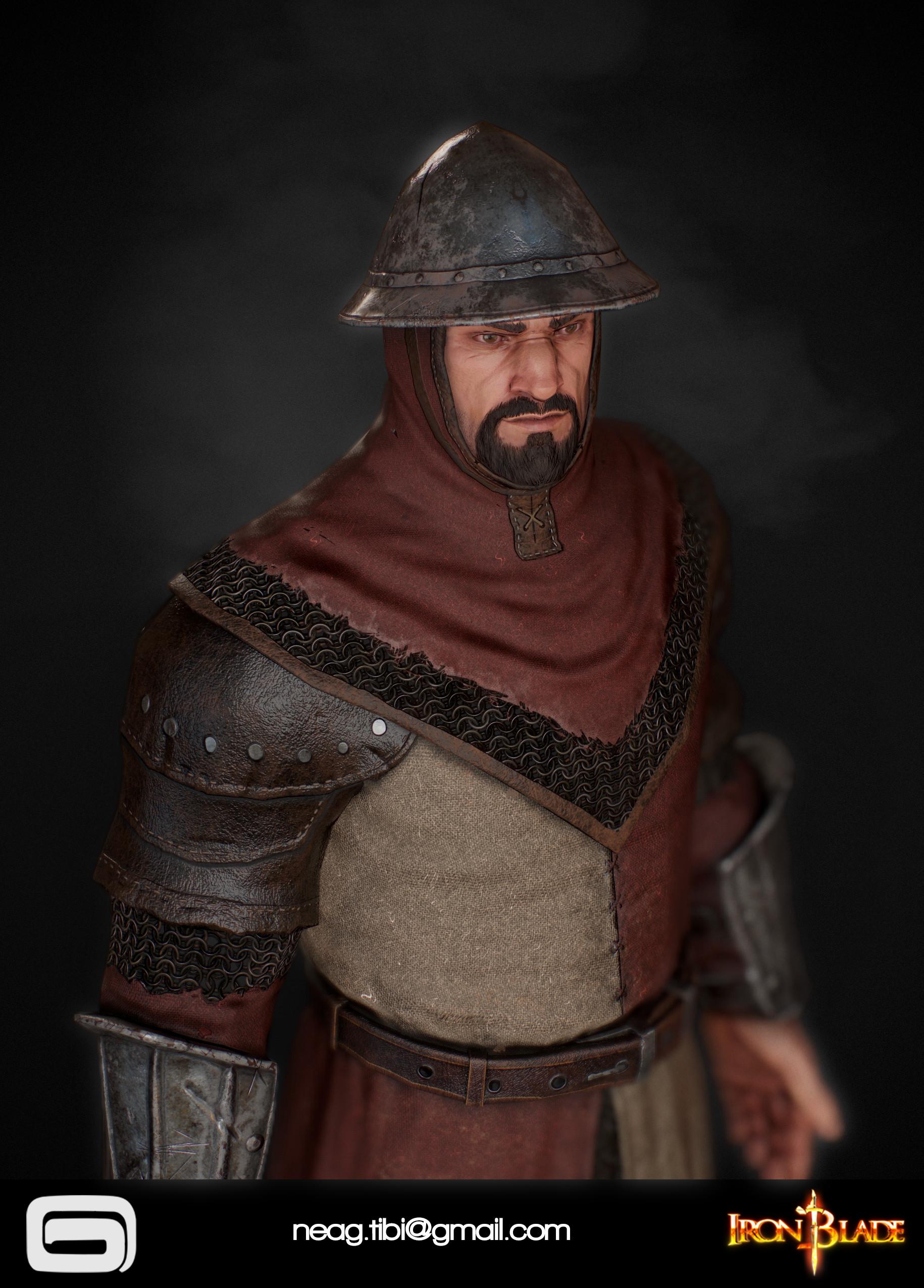 Tibi neag tibi neag iron blade garrison soldier c low poly 04