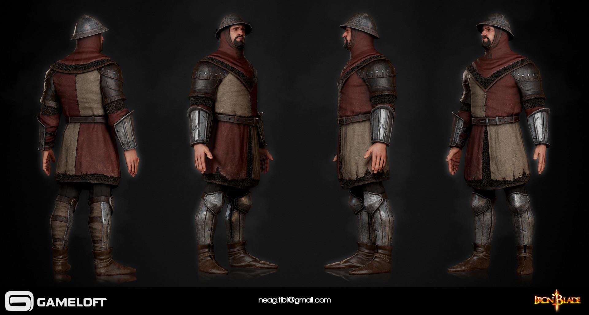 Tibi neag tibi neag iron blade garrison soldier c low poly
