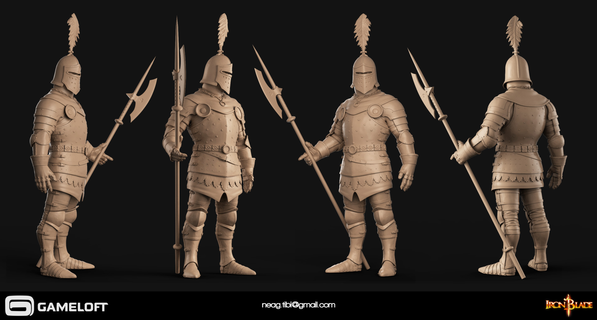 Tibi neag tibi neag iron blade royal guard high poly