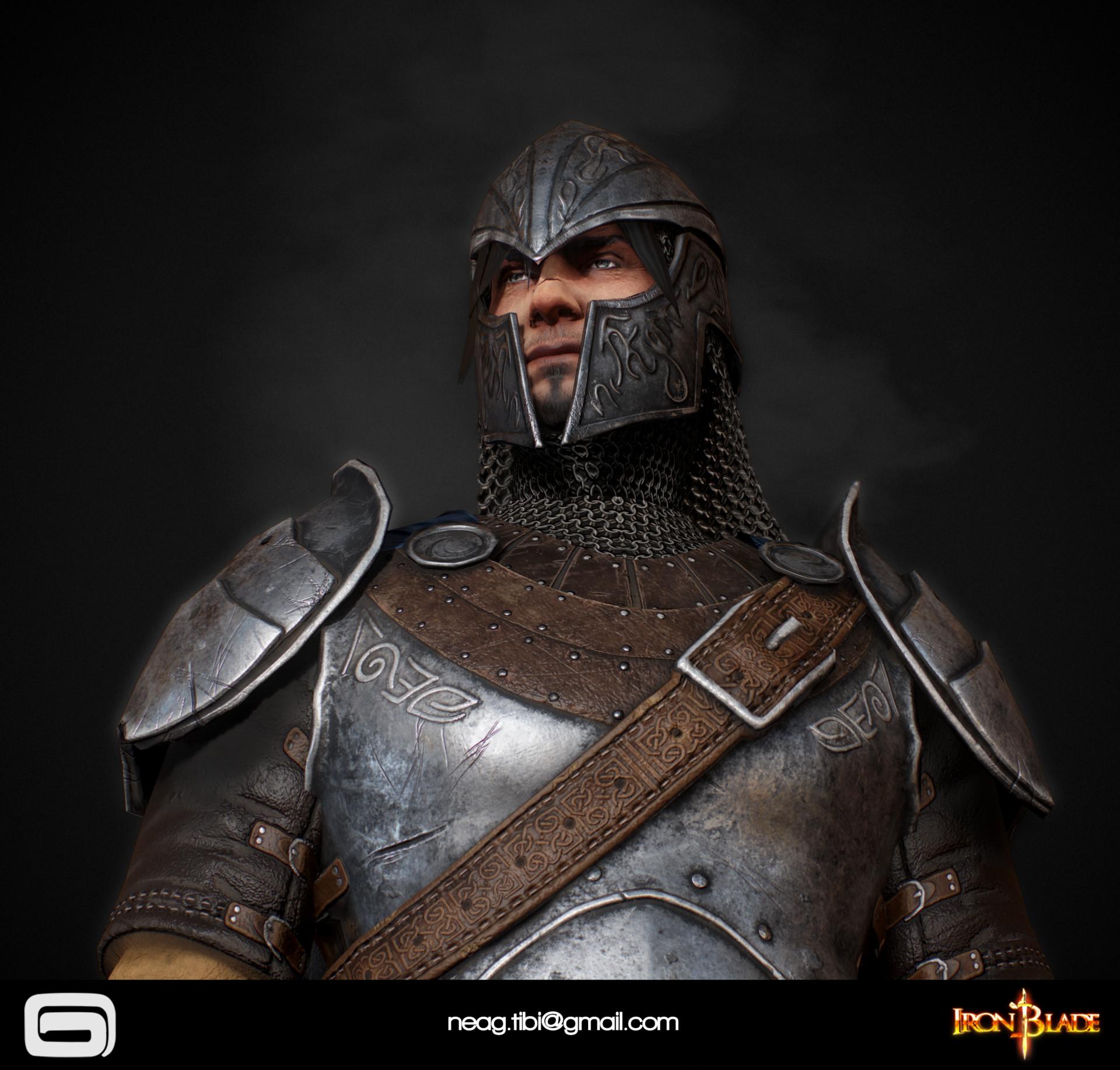 Tibi neag tibi neag iron blade mc armor 09b low poly 05