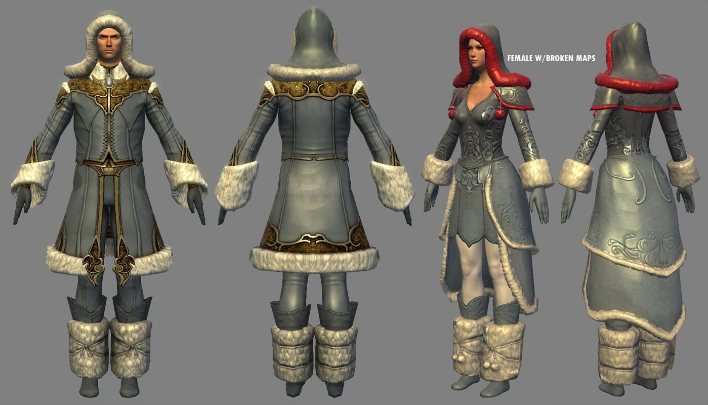 I modeled and textured the armorset based on a design by Hai Phan. Base body was done by Aaron Coberly.