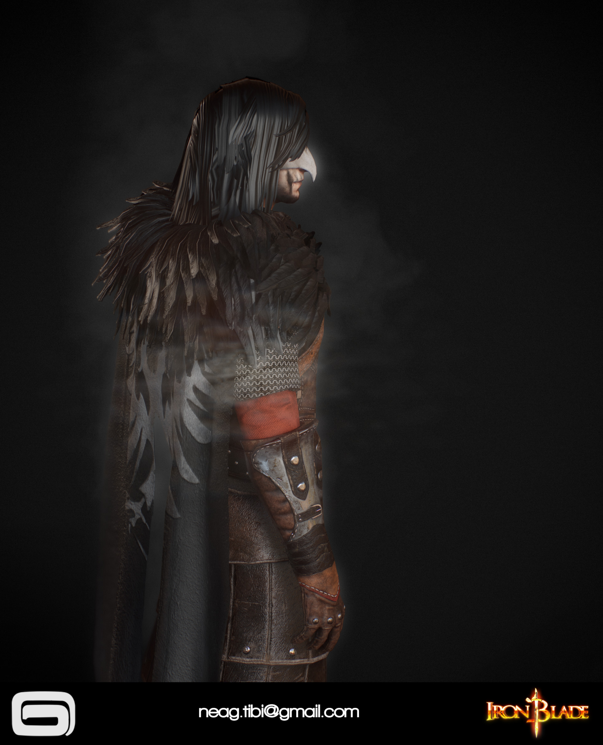 Tibi neag tibi neag iron blade mc armor 11b low poly 07