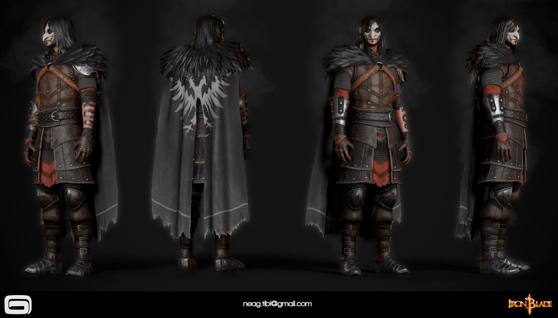 Tibi neag tibi neag iron blade mc armor 11b low poly resize