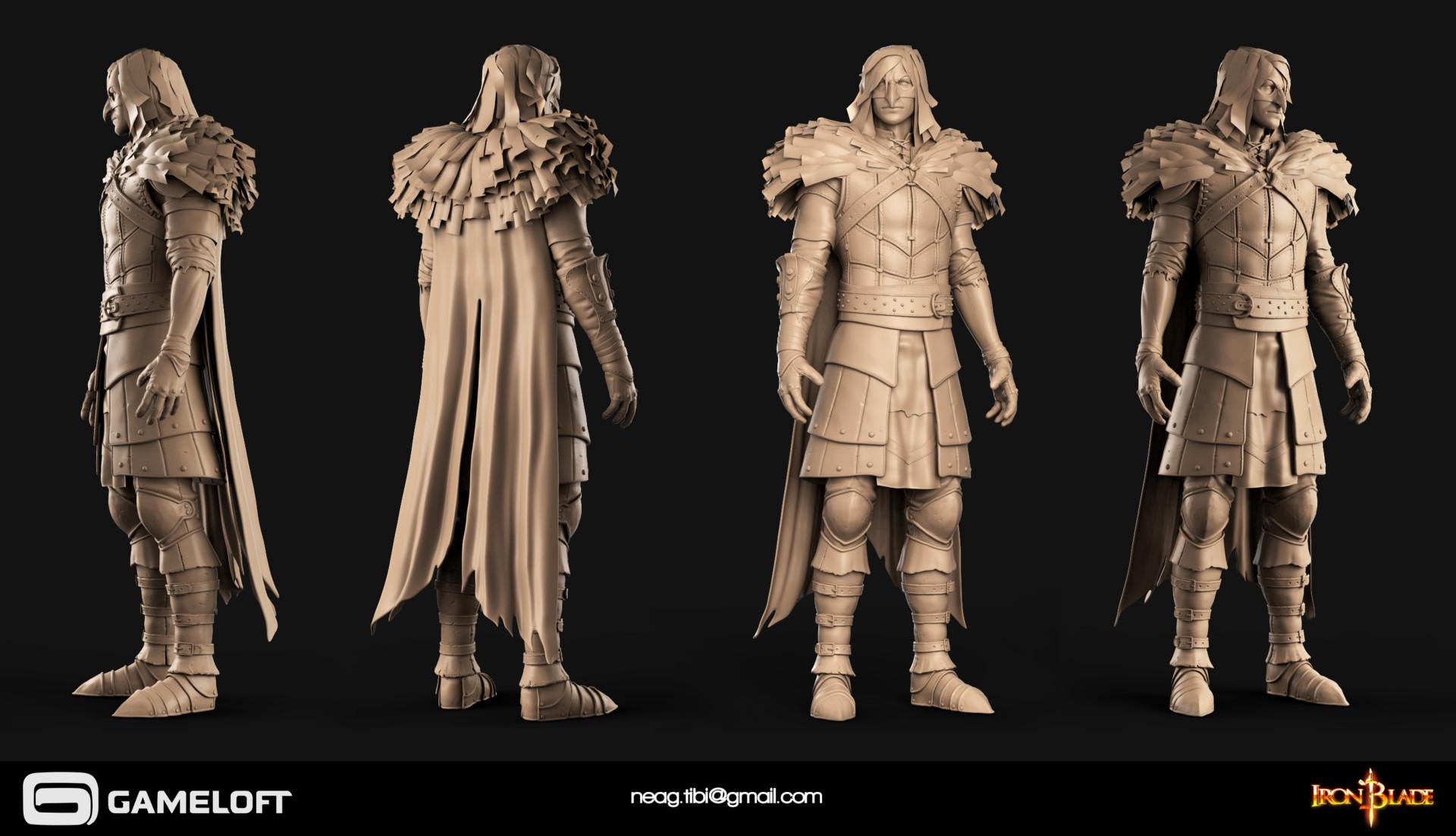 Tibi neag tibi neag iron blade mc armor 11b high poly