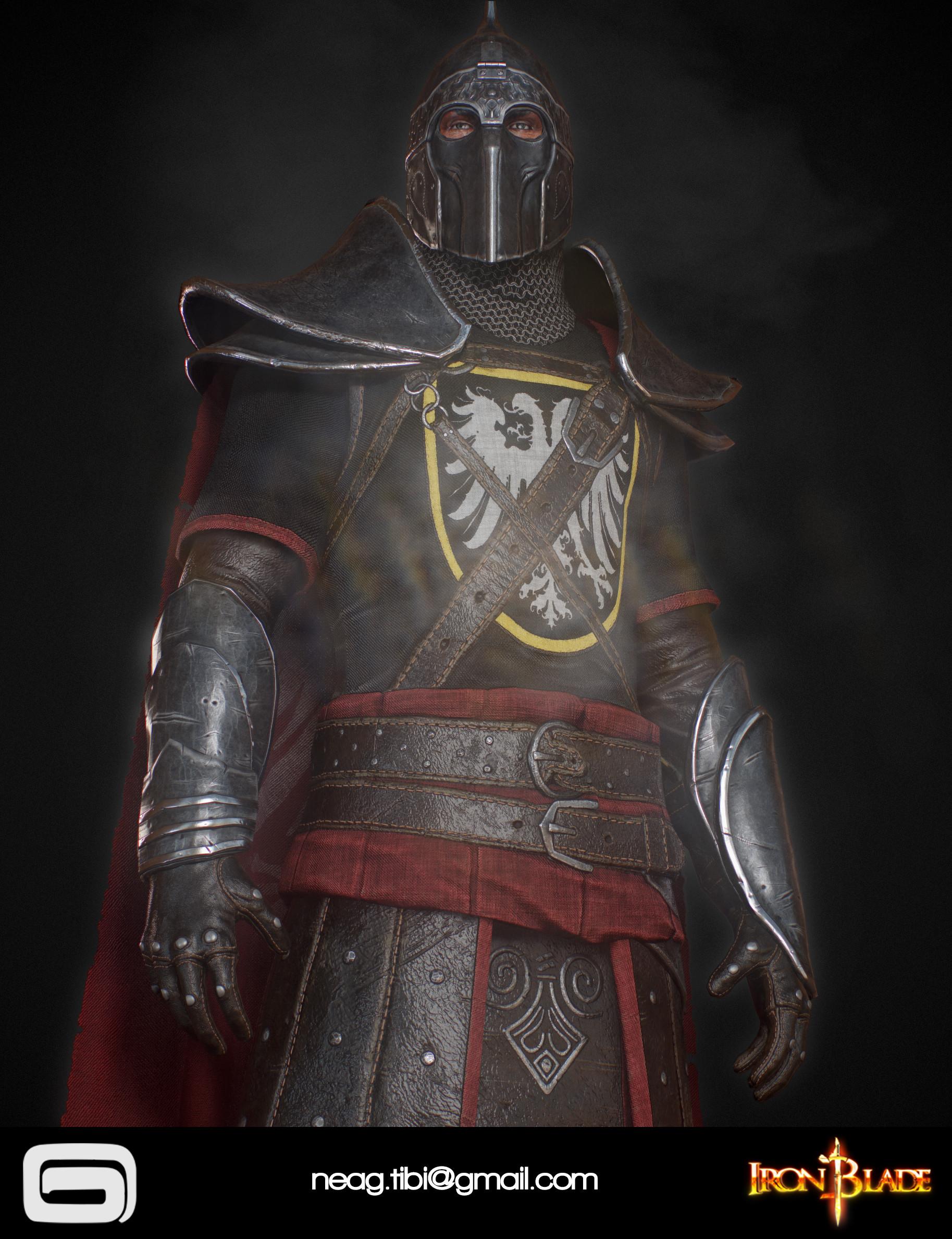 Tibi neag tibi neag iron blade mc armor 04b low poly 04
