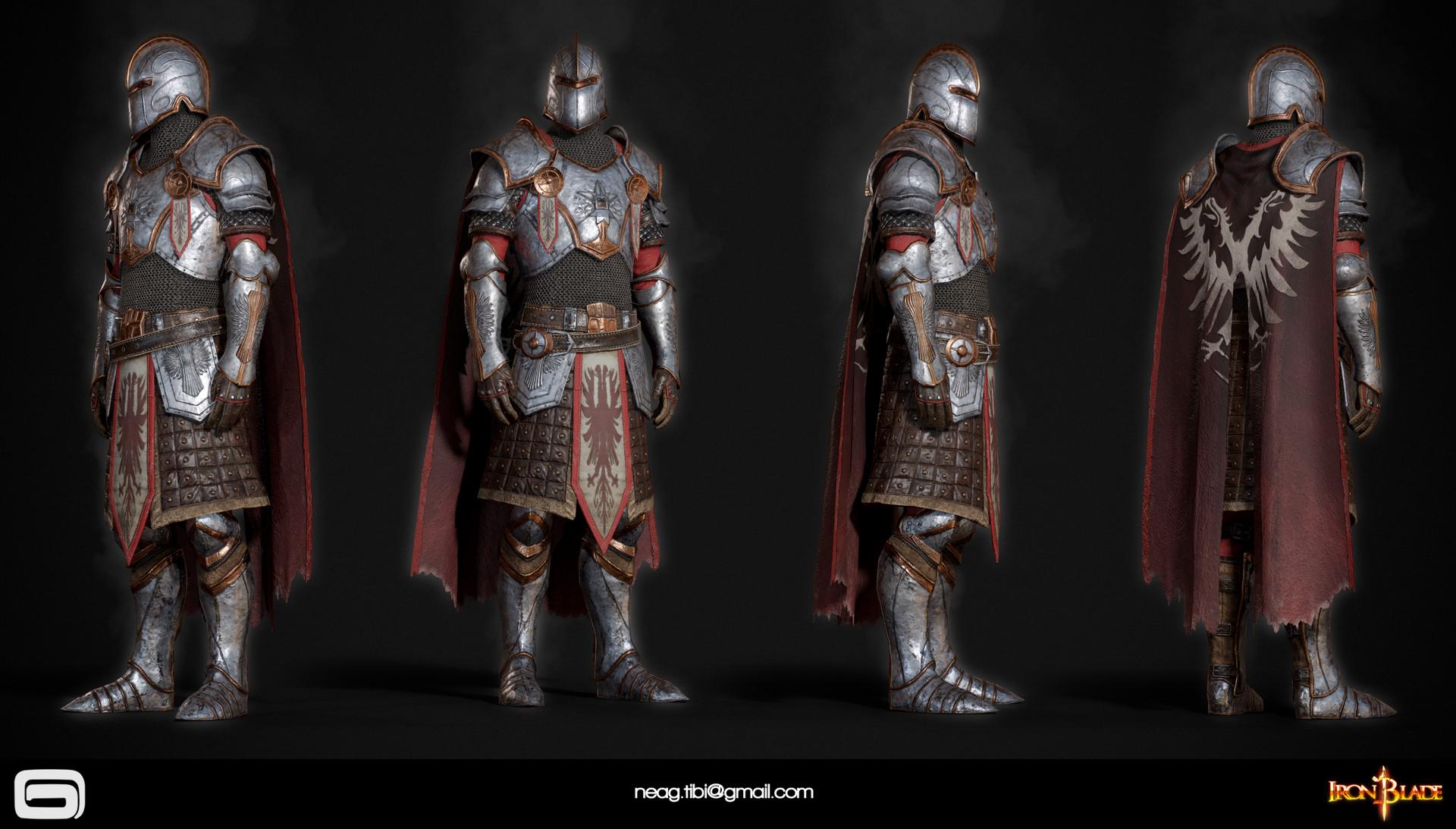 Tibi neag tibi neag iron blade mc armor 06b low poly resize