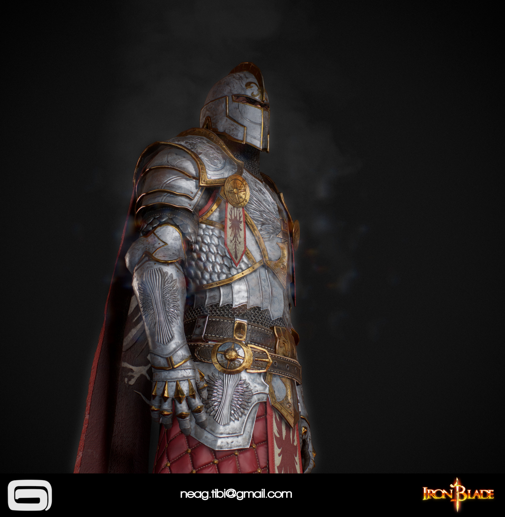 Tibi neag tibi neag iron blade mc armor 06c low poly 06