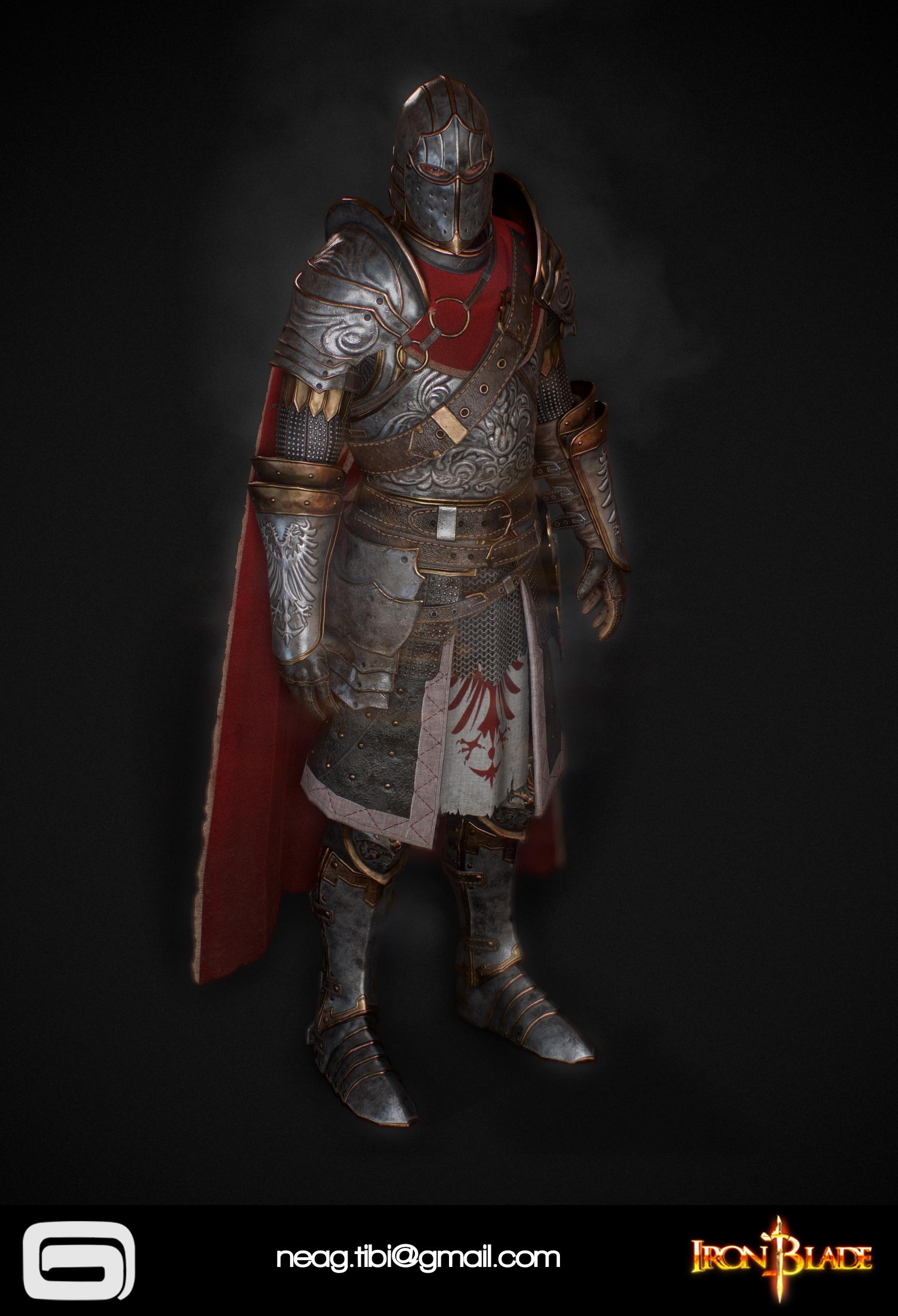 Tibi neag tibi neag iron blade mc armor 02c low poly 03