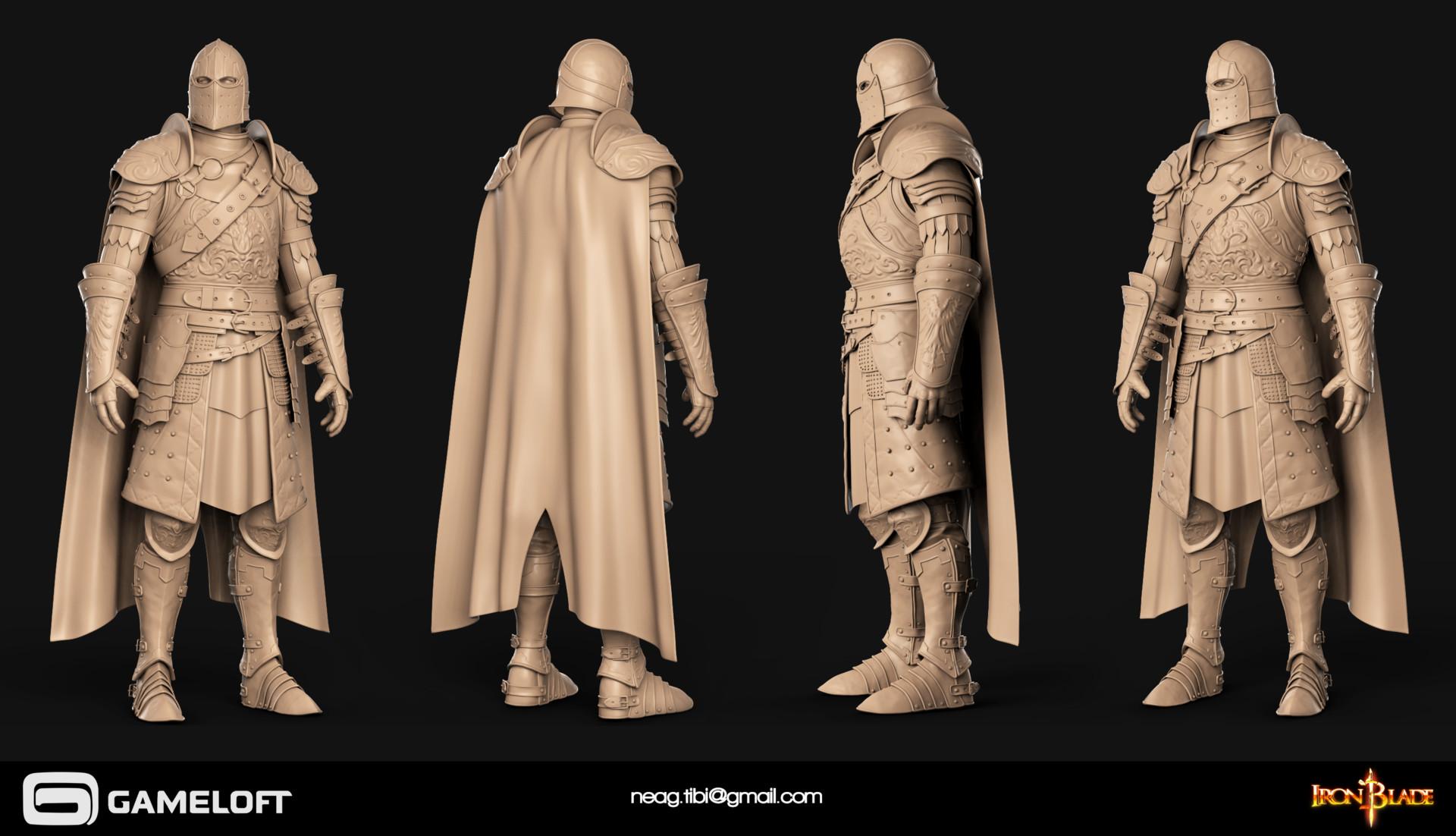 Tibi neag tibi neag iron blade mc armor 02c high poly