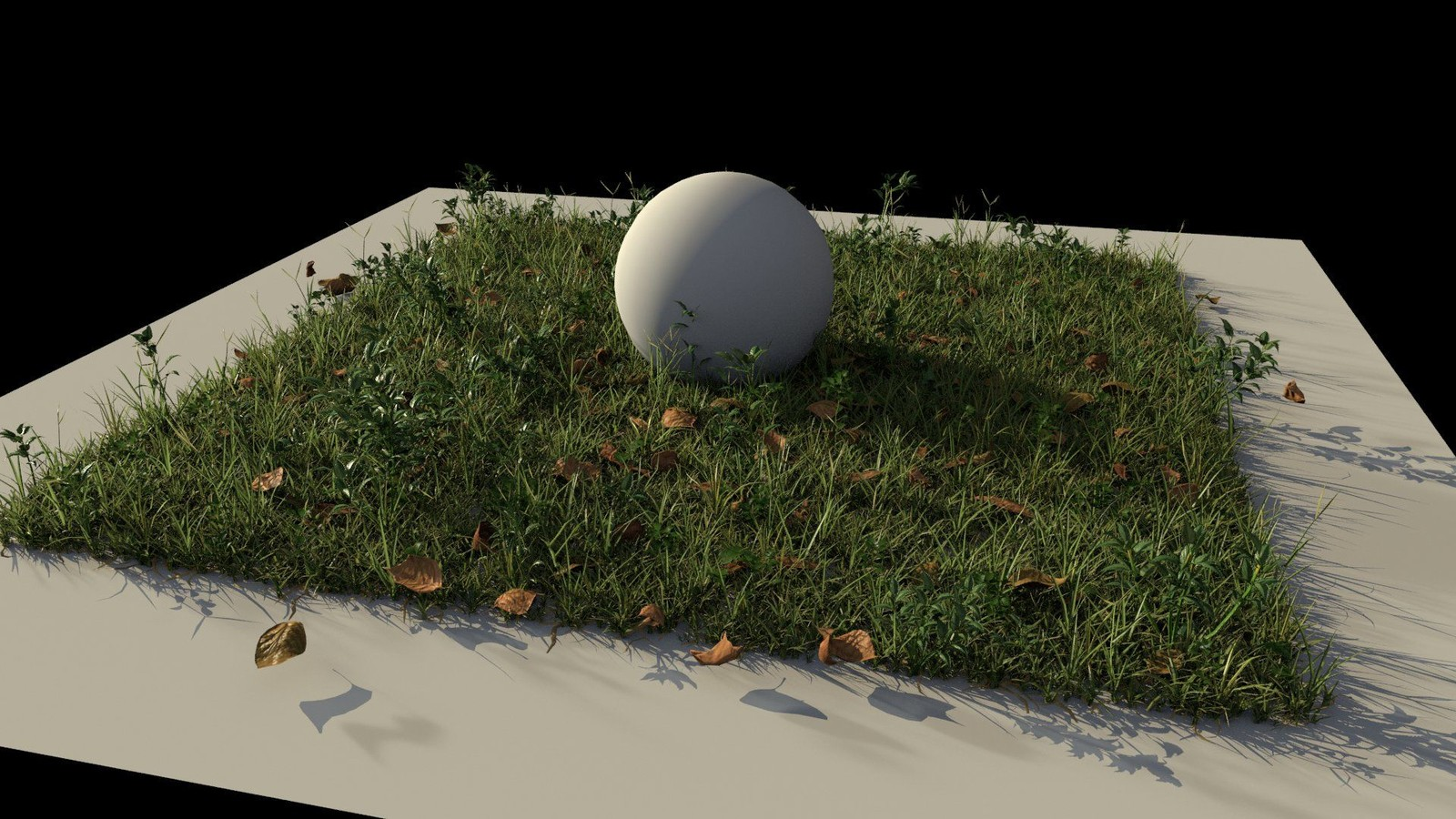 Early Look Development - Testing placement tool and validating the look of different types of grass