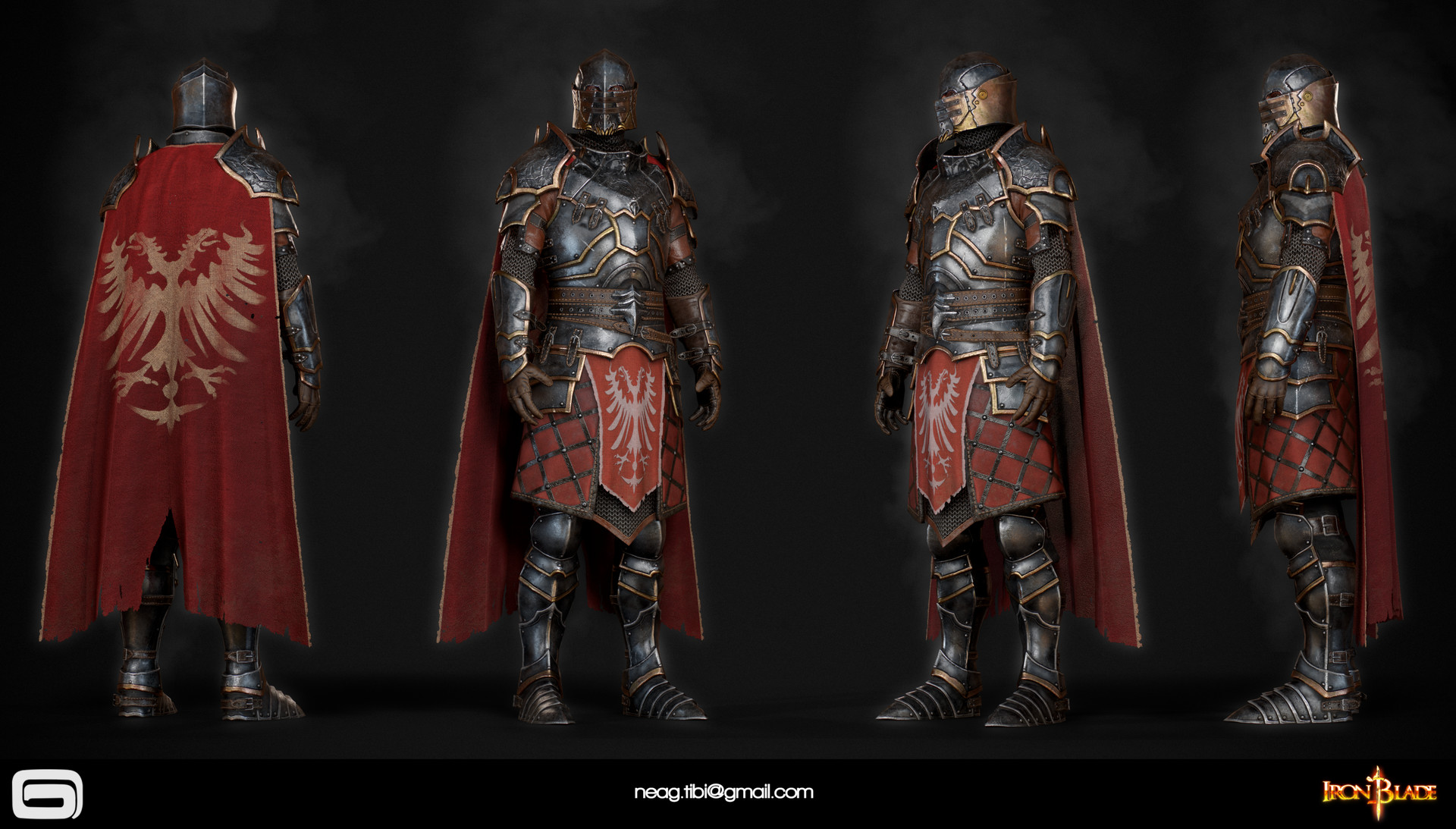 Tibi neag tibi neag iron blade mc armor 10b low poly resize