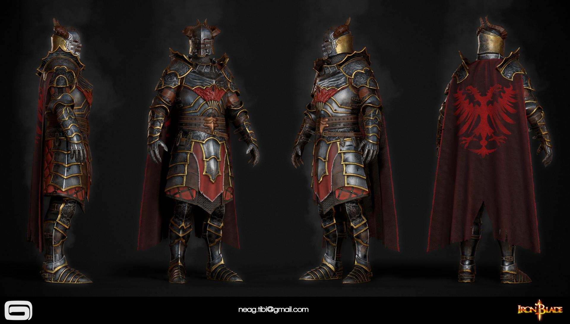 Tibi neag tibi neag iron blade mc armor 10c low poly resize
