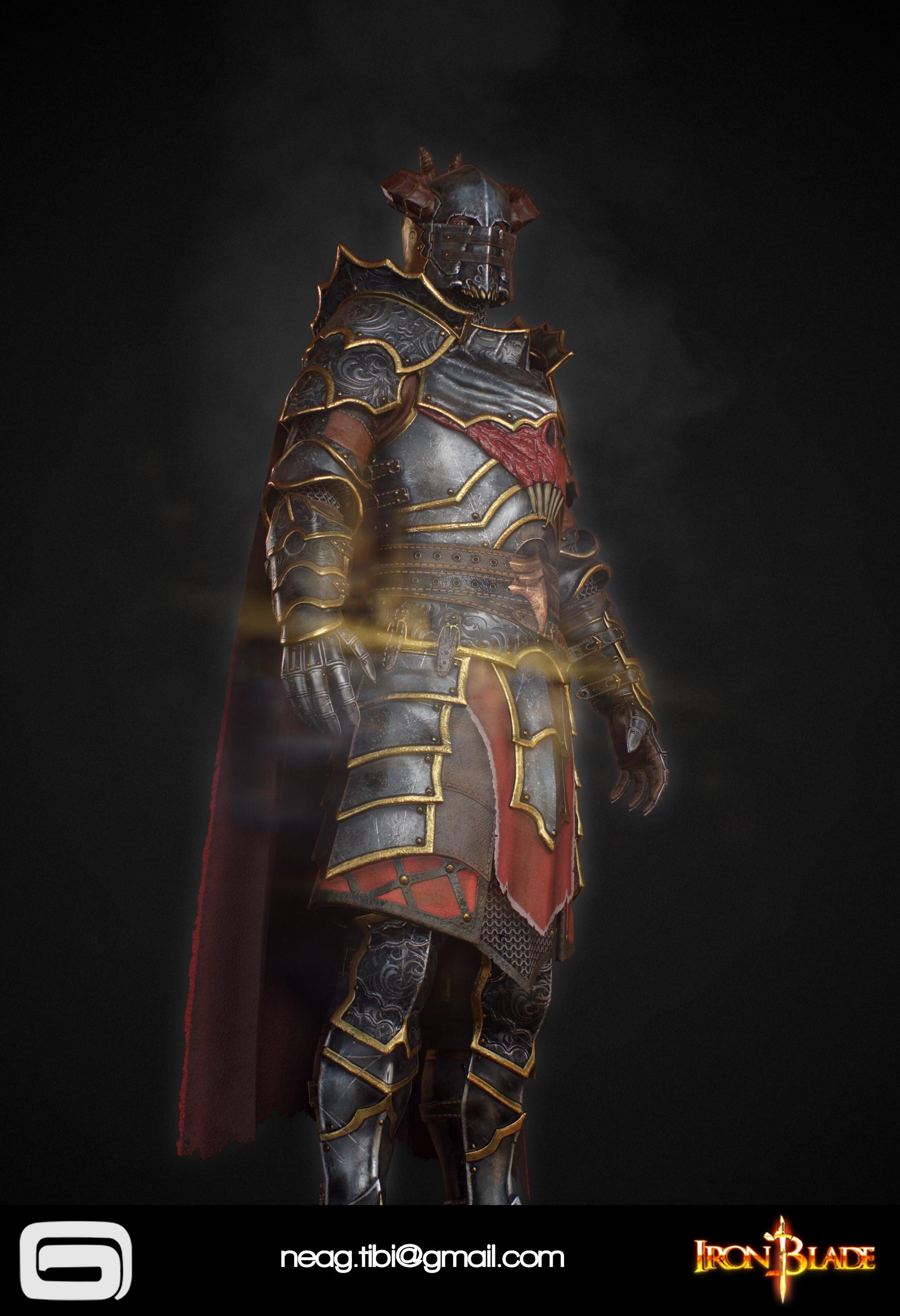 Tibi neag tibi neag iron blade mc armor 10c low poly 07