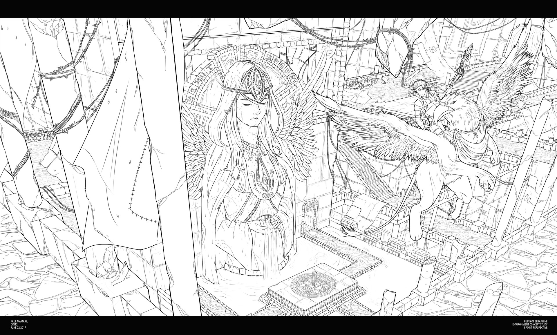 3pt Perspective Concept Art Illustration