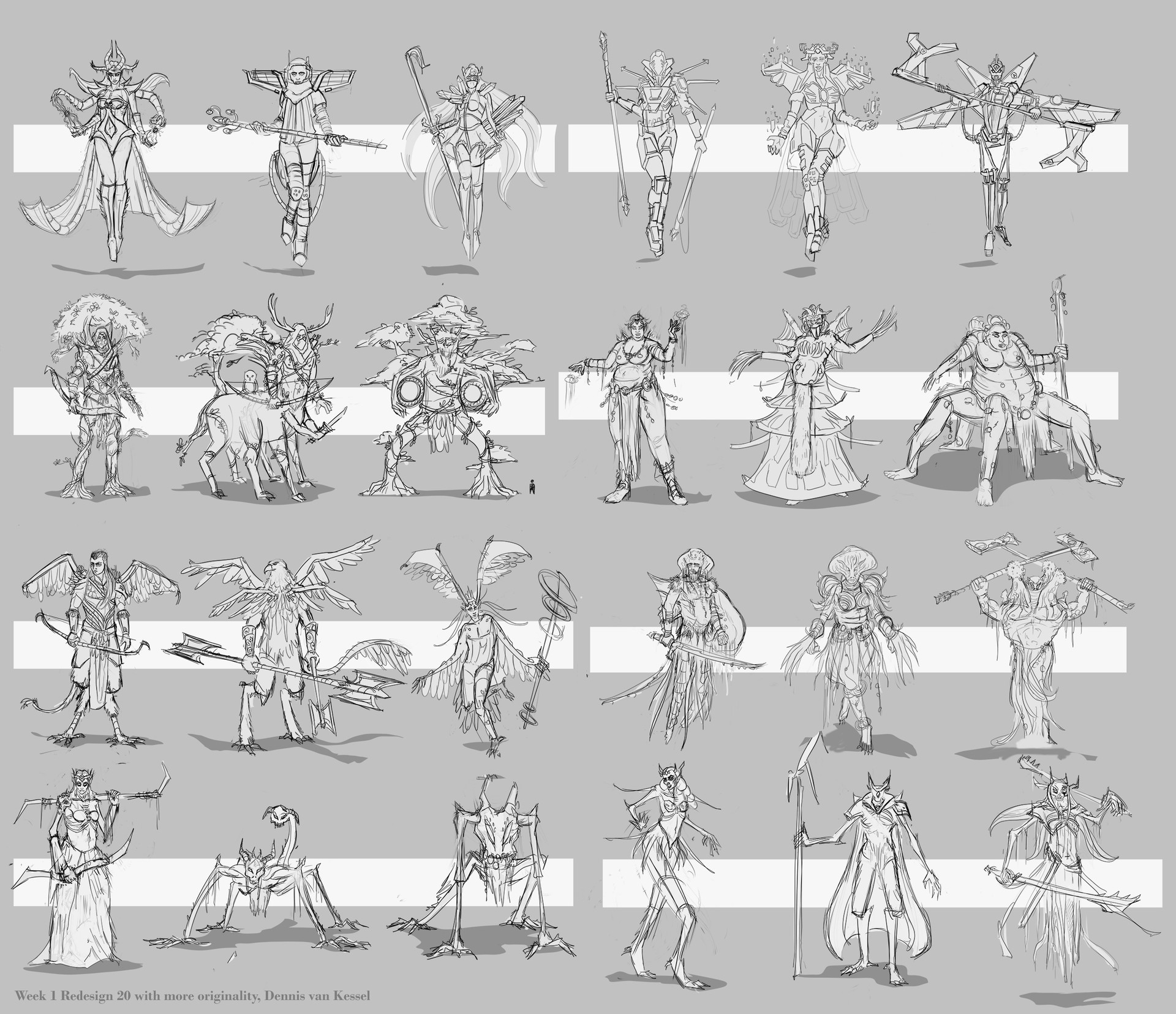 Dennis van kessel second 24 character designs