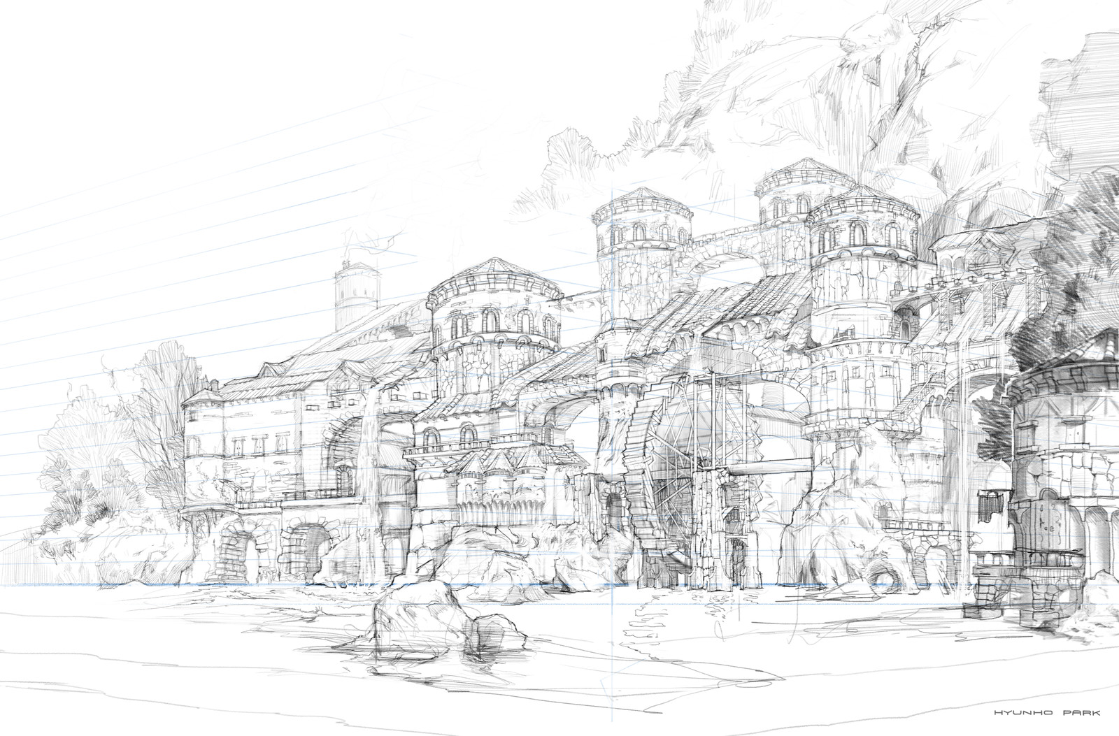 sketch for laketown