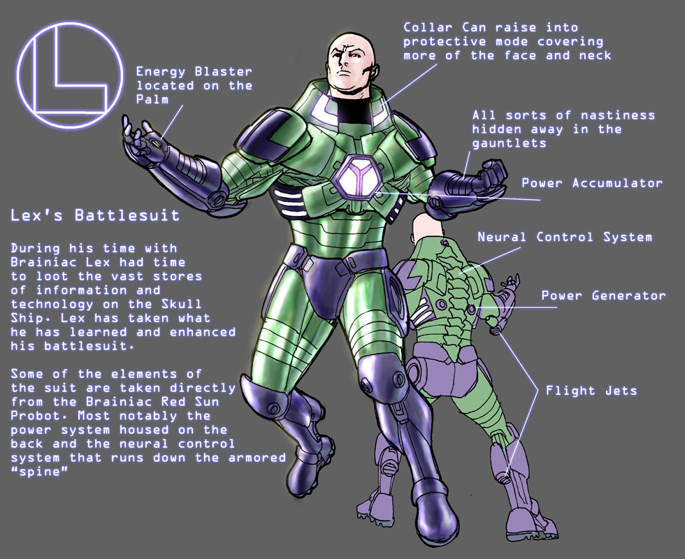 Lex Luthor's Battle Armor. Later was produced as an action figure.