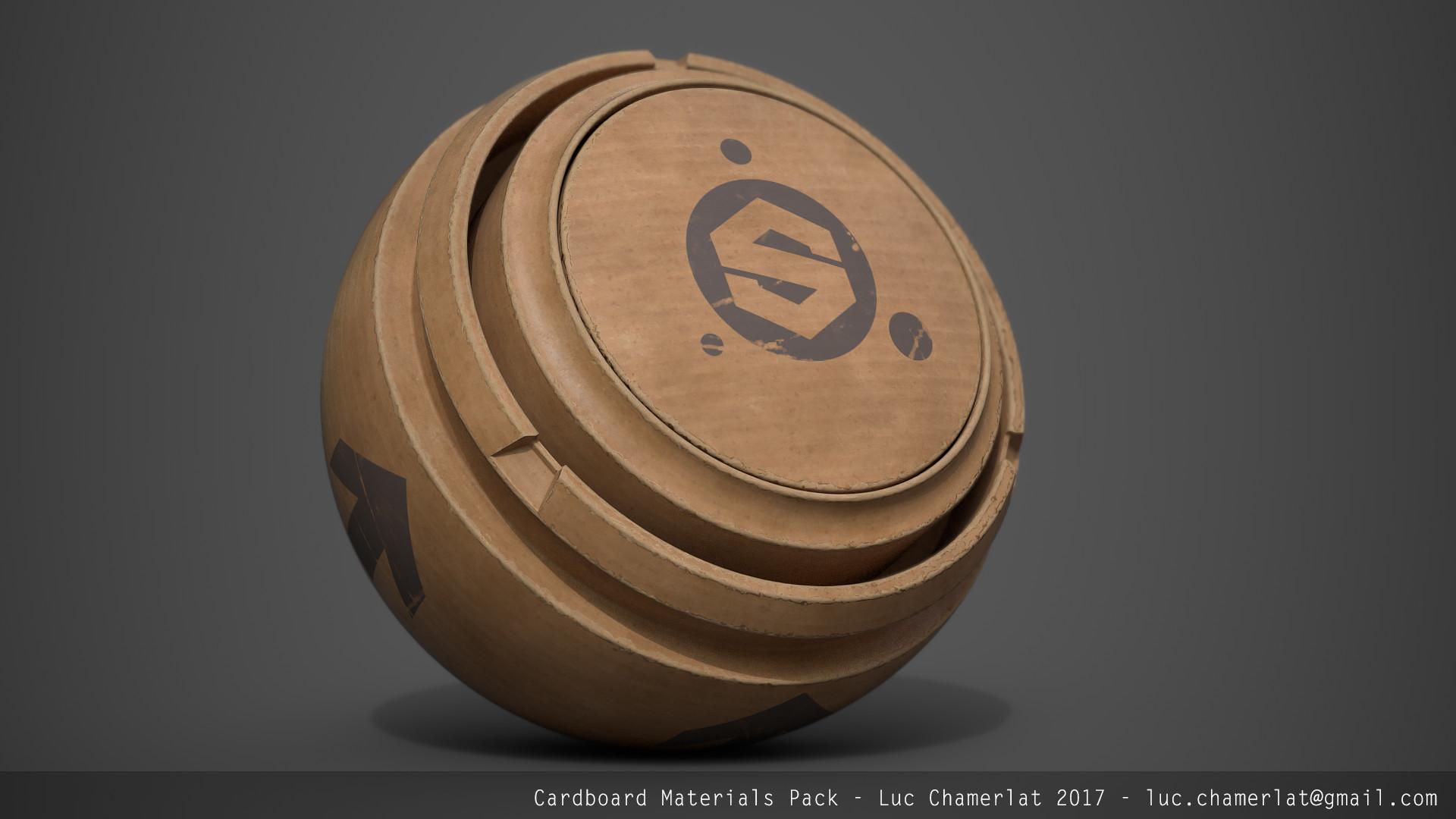ArtStation - Gumroad free - Cardboard Materials Pack