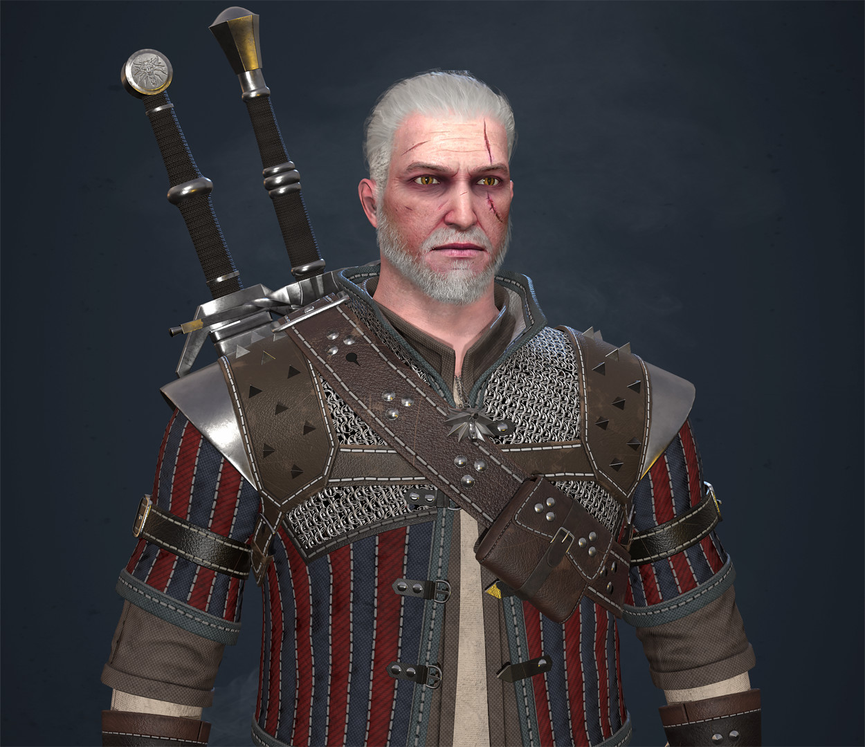 ArtStation - Geralt of Rivia  Fan Art , Maxim Zaginaylo