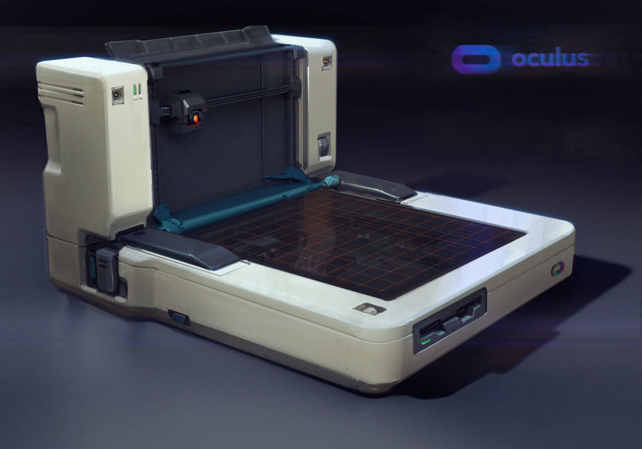 Paintover of Chris Emond's 3D model of the 3D printer, which was designed by Robogabo