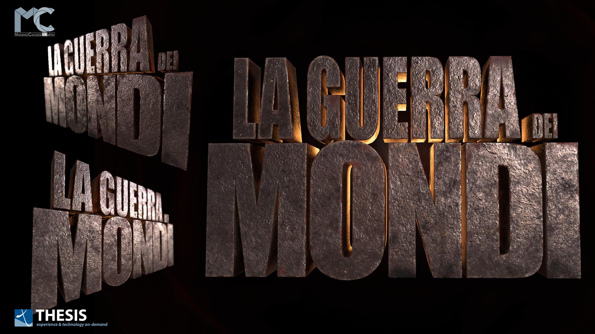 'La Guerra dei Mondi' title-art (Marmoset Toolbag 3).