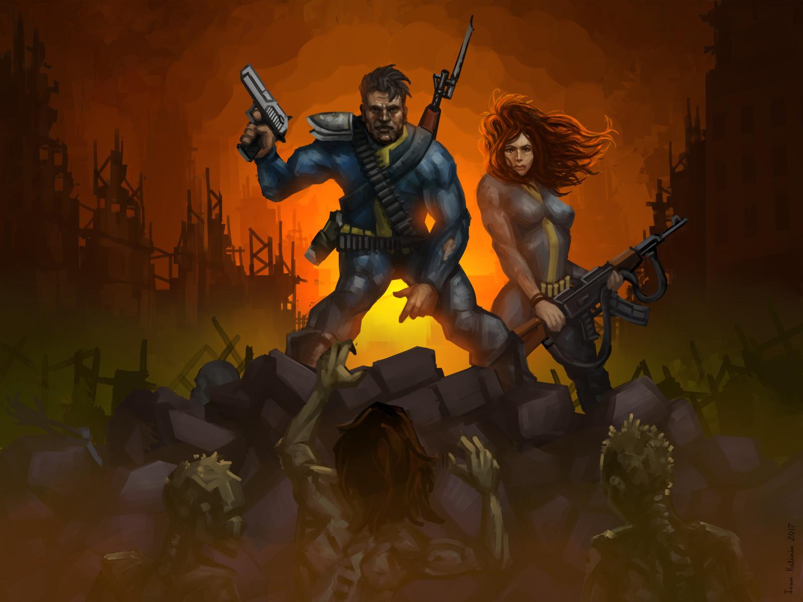 Fallout 1 concept art remake