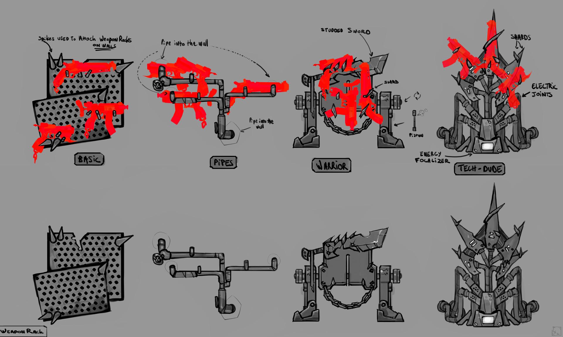Etienne beschet conceptart weaponrack